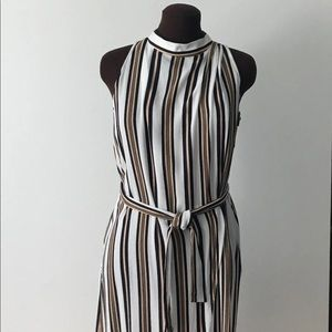 leith striped Sleeveless Dress size small